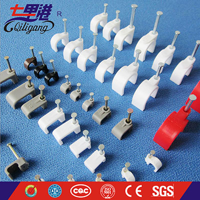 Circle cable clamp plastic wall clip