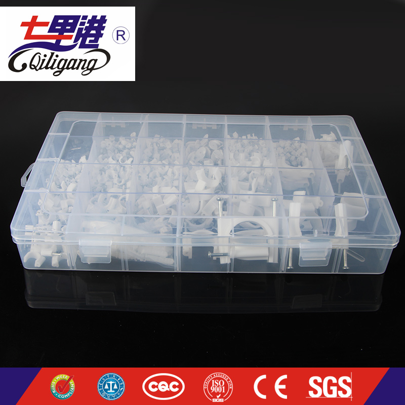 Plastic box packaging Cable Clip