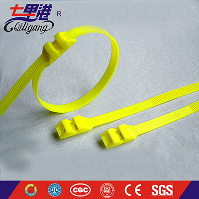 New design Nylon 66 plastic double locking cable ties