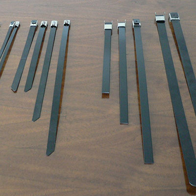 PVC Surface Stainless Steel Tie With Head
