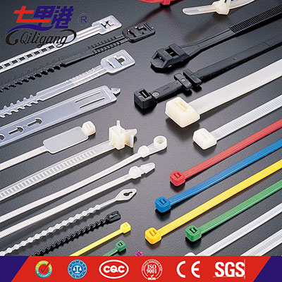 Self locking alkali proof cable tie