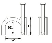 cable clips supplier_Circle cable clamp drawing
