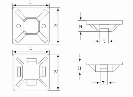 Cable tie wire supplier_Self Adhesive Mount tie wire drawing